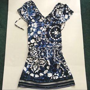WHBM Blue Floral Dress